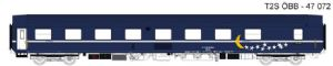 LS Models 47072 OBB 'WLAmz' Sleeping Car, TEN Blue with moon/stars livery - SPECIAL OFFER
